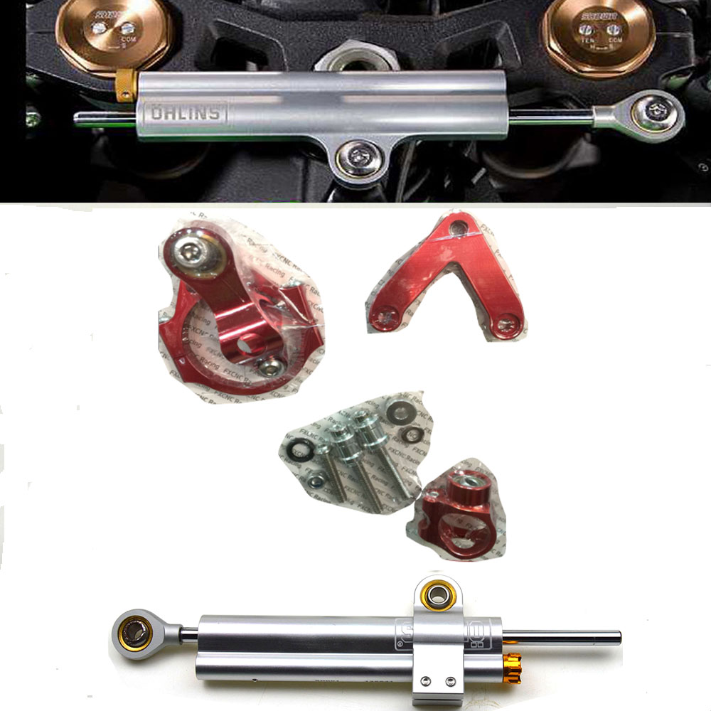 CNC Aluminum Adjustable Motorcycles Steering Stabilize Damper Bracket Mount Kit  For DUCATI 848 2008-2010 adjustable steering stabilize damper bracket mount kit for honda cbr1000 2008 2014 t6061 t6 aluminum a set cnc fxcnc gold