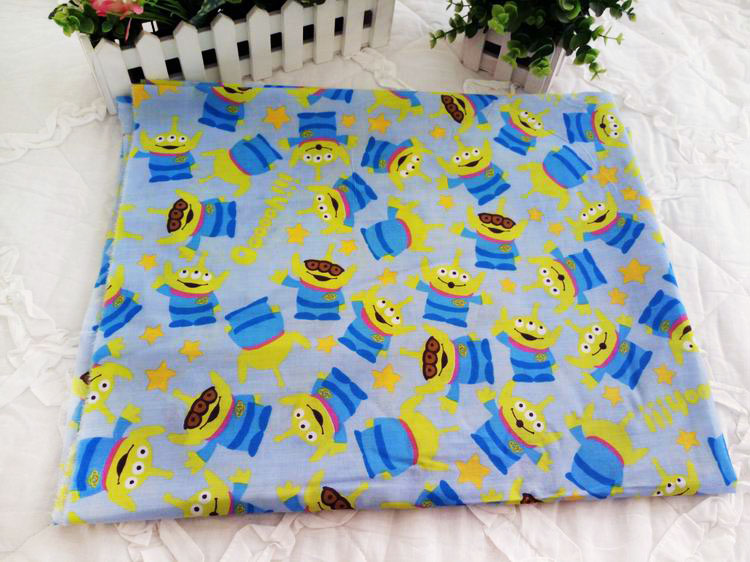 108 50cm toy story alien polyester cotton fabric fat for Alien fabric