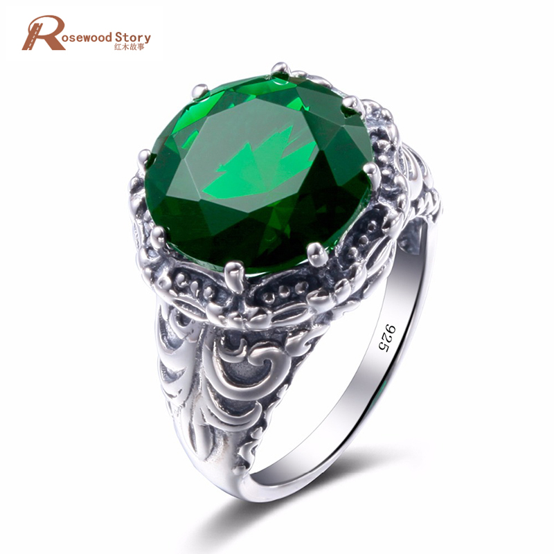 Luxury Classic 2.7ct Nano Russian Created Emerald Stone Pure 925 Sterling Silver Anniversary Ring For Women Vintage Fine JewelryLuxury Classic 2.7ct Nano Russian Created Emerald Stone Pure 925 Sterling Silver Anniversary Ring For Women Vintage Fine Jewelry