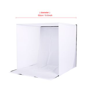 Image 3 - CY in stock 50cm Portable Mini Folding Studio Photography backdrop Foldable Softbox with 4 color Backgound Soft box and Lightbox