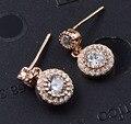 Guarantee Plain 925 Sterling Silver , CZ , Cubic   Earrings, 1.9 g, EA31154