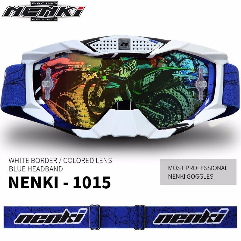 (1 pc & 5 couleurs) Nouvelle Arrivée NENKI Marque Professionnel Motocross Lunettes Moto Lunettes Moto Casco Lunettes Casque bouclier Visière