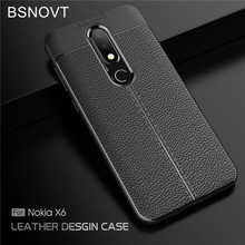 цена на For Nokia X6 2018 Case Soft Silicone PU Leather Shockproof Bumper Case For Nokia X6 2018 Cover For Nokia X6 2018 TA-1099 5.8