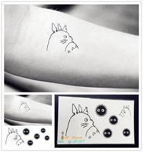 Lovely Cartoon My Neighbor Totoro Design Temporary Tattoo GYF-100 Waterproof Body Stickers Tattoo Paper Pastes For Kids Children