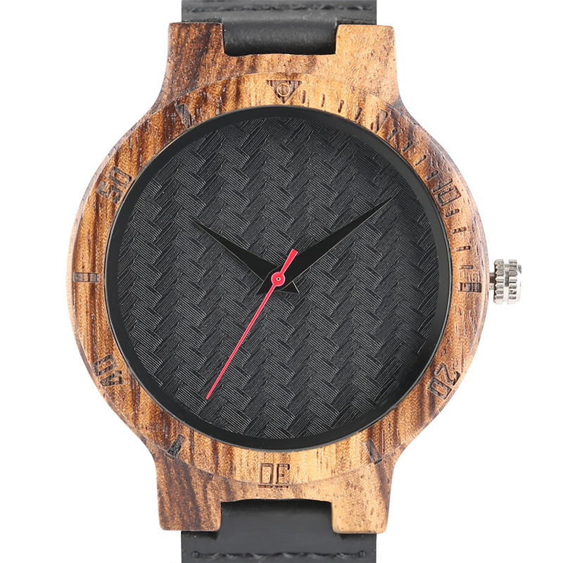 High Quality Top Minimalist Bmaboo Wood Quartz Watch Black Simple Analog Mens Wristwatch Popular Wooden Style saat erkekler hand made natural wood mens quartz watch wooden watchband bracelet clasp simple design dial high quality male watches gift