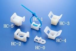 50pcs 5mm HC-1 Nylon Cable Tie Holder Saddle Shape Mount Wire Holder UK