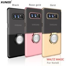 Xundd Luxury Transparent PC For samsung galaxy Note 8 6.3inch phone Case Magic magnetic + Ring Holder with stand function newest