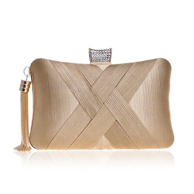 22d760e65497 Women Evening Bags Diamond Rhinestone Clutch Lady s Wedding Purse chain  Shoulder Handbags Wallets Phone Key Pocket Bags