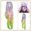 Бесплатная доставка синтетические волосы многоцветные длинные нет игры нет жизни широ косплей парик