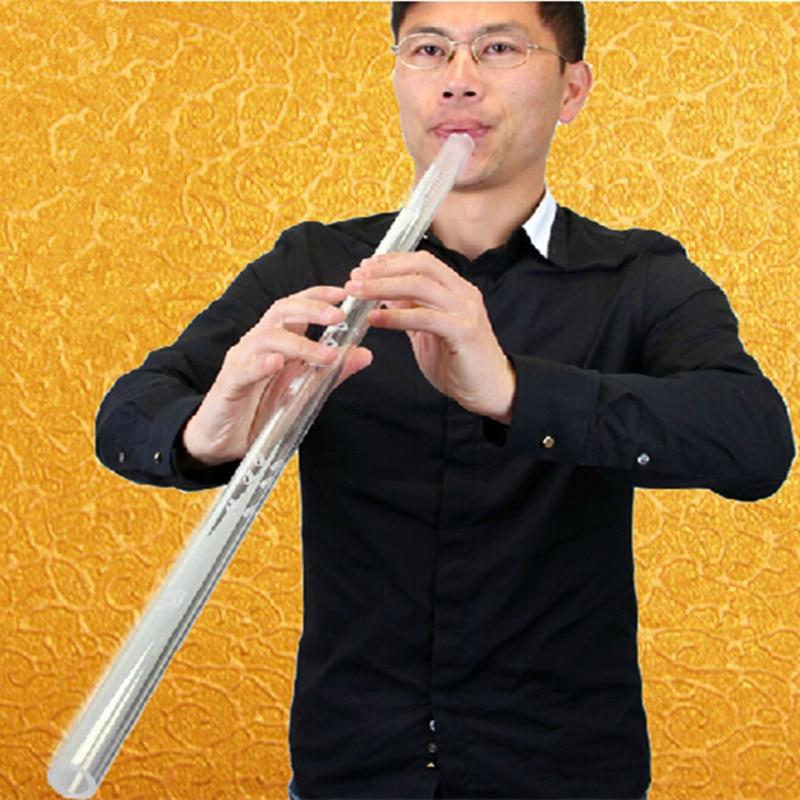 Vertikaalne flööt XIAO mitte Dizi Crystal Muusikariistad Imiaition Jade Flute 8-augulised 80cm F / G Key Xiao muusikainstrument