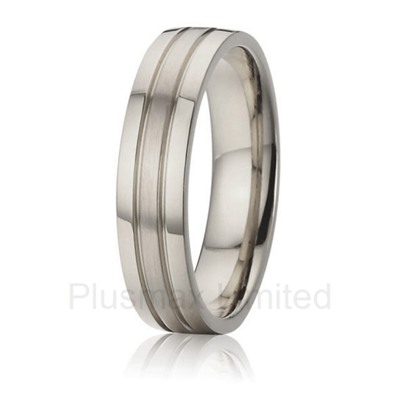 China factory soul mate male titanium steel jewelry promise wedding band rings for men