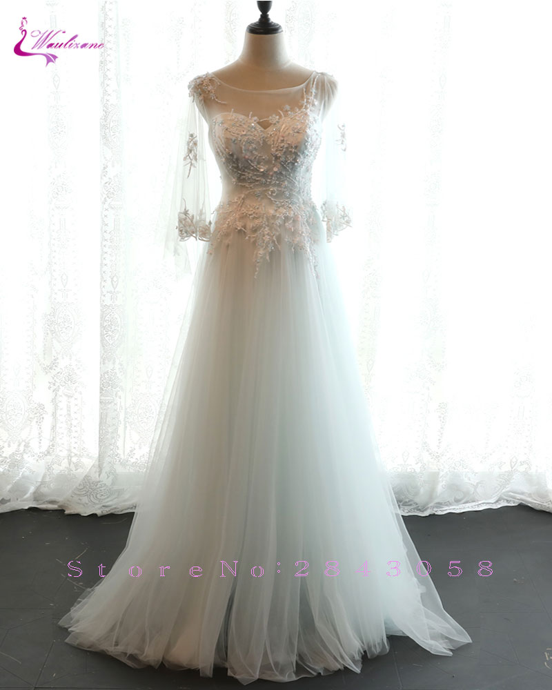 f466937f2d2 Waulizane New Style Forest series light Wedding Dresses Beading ...