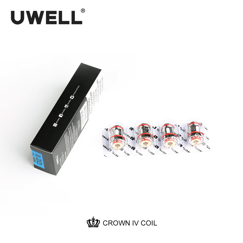 UWELL 5 Packs Crown 4(Crown IV ) 0.2/0.23/0.4ohm Coil Dual SS904L& Mesh UN2 Coil Head Crown 4 Tank Electronic Cigarette Core