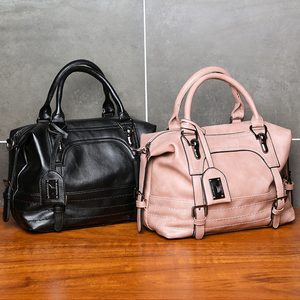 Image 5 - KMFFLY Luxury Vintage Handbags for Women Leather Shoulder Bag Female Famous Brand Simple Casual Tote Bag Sac Femme Handbag 2019