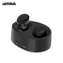 Aimitek K2 TWS Bluetooth Earphones True Wireless Earbuds Mini Stereo Music Headsets Hands-free With Mic Charging Box for Phones