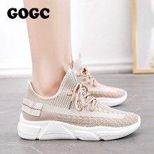 GOGC Summer Woman Sneakers mesh Shoes Female platform Lace Up Causal Shoe for Women basket femme Women Flat Shoe 691
