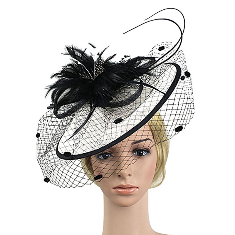ladies day or special occasion. races Weddings feather flower /& diamant\u00e9 Stunning silver ladies hat with sinamay swirls