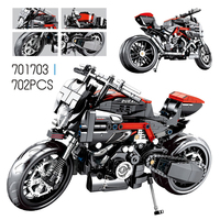 Technic Series 701703 Motorcycle Compatible Lele Legoing Ducating Model Set Yamahaes Building Blocks Toys