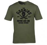 The Goonies Never Say Die Astoria Oregon Pirate Flag T Shirt Men Gift Casual Tee USA