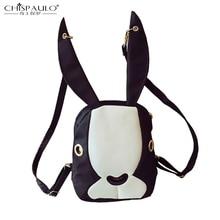 2016 Оксфорд сумка ударил цвет сшивание прилив Корея мультфильм кролик уши рюкзак