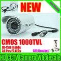"""Real 800/1200TVL 1/4 """"cmos de Vigilância de Segurança de Vídeo À Prova D' Água IP66 Ao Ar Livre Hd Medidor Infravermelho Câmera de Cctv IR-CUT Noite visão"""