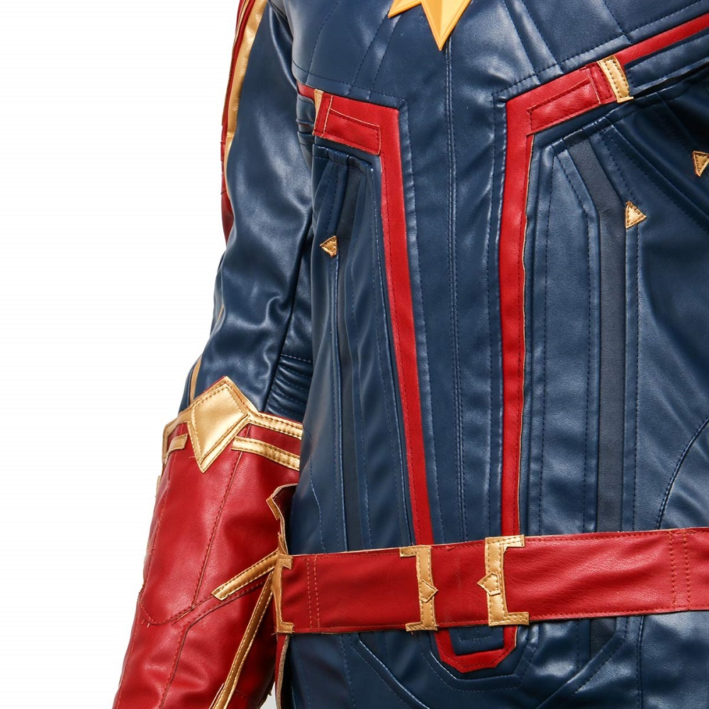 Takerlama Captain Marvel Cosplay Costume Carol Danvers 2019 Superhero Cosplay Ms. Marvel Jumpsuit Halloween Party Uniform Suits
