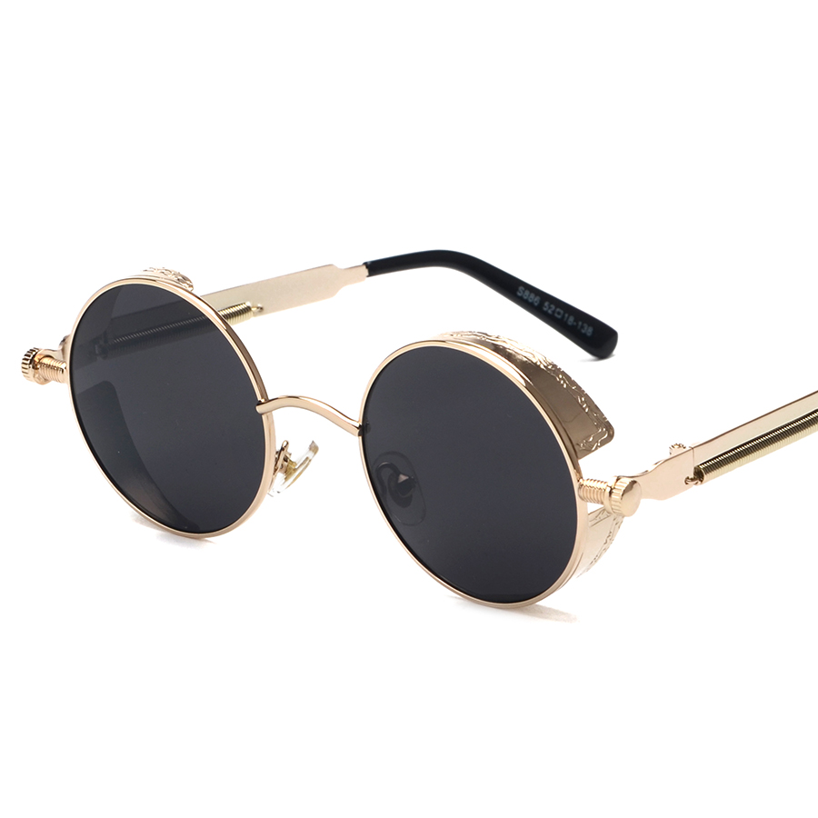 0e788c849b Kachawoo round steampunk sunglasses men vintage glasses steam punk sun  glasses for women summer 2018 men