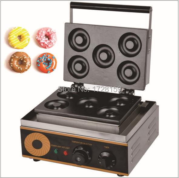 110V/ 220v Electric donut maker machine automatic donut maker with five donuts automatic donut machine productions line automatic commercial donut machine donut forming machines