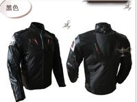 Motorcycle Jacket PU Leather Racing Jacket Body Armor Protection Equipment Moto Motocross Off road Clothing Protective Gear