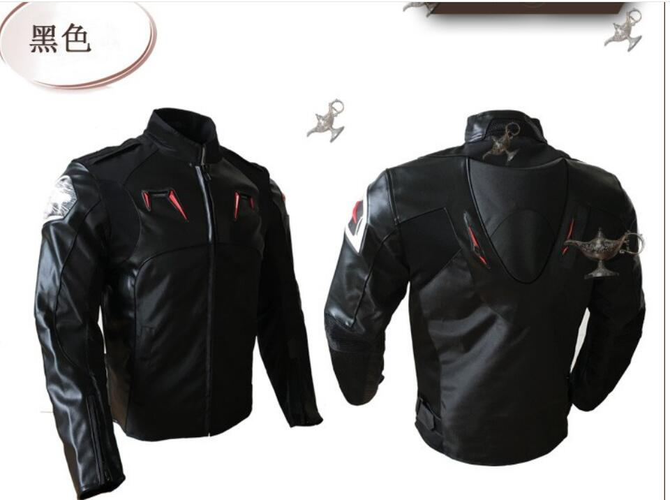 Motorcycle Jacket PU Leather Racing Jacket Body Armor Protection Equipment Moto Motocross Off-road Clothing Protective Gear