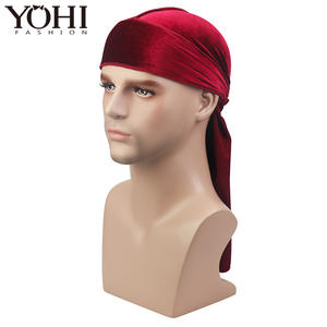 Velvet Durag Long Tail Wide Straps Make on Hair Accessories