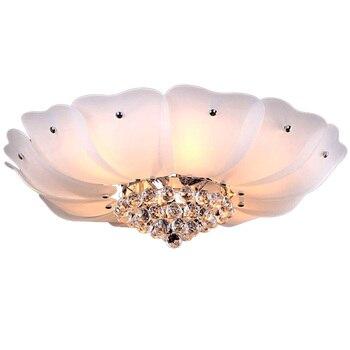 Lámpara de techo para salón con diseño de loto de cristal romántico, lámpara de techo clásica de cristal para dormitorio, lámpara de techo para habitación de princesa