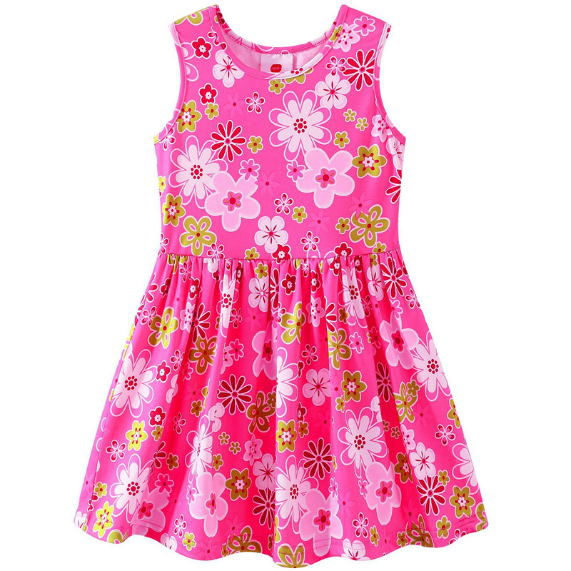 100% Cotton Girl Dress 2018 Summer Dresses For Girls Children Casual Clothing Kids Clothes Baby Girl Clothing baby girl summer dress children res minnie mouse sleeveless clothes kids casual cotton casual clothing princess girls dresses page 9