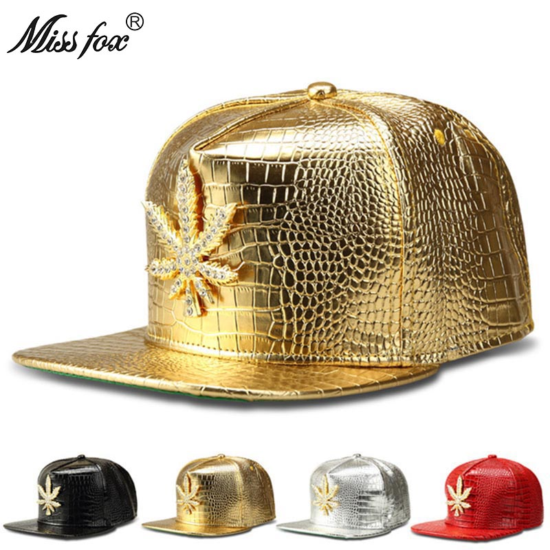 Missfox Hip Hop Mens Hat Flat-brimmed Cz Stone Paintinged Streetwear Hat Four Colors Free Shipping Mens Hats And Caps