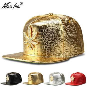 Missfox Hip Hop mężczyzna kapelusz z płaskim rondem Cz kamień Paintinged Streetwear kapelusz cztery kolory darmowa wysyłka męskie kapelusze i czapki tanie i dobre opinie Hip Hop Czapki Regulowany 41743083607 Faux leather GEOMETRIC