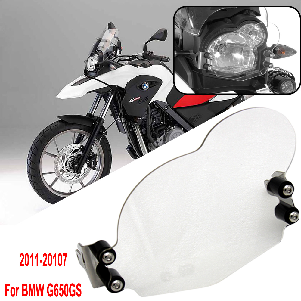 G650GS Acrylic/ Grille Motorcycle Front Headlight Lens Cover Frame Headlight Protector for <font><b>BMW</b></font> <font><b>G</b></font> <font><b>650</b></font> GS 2011 2012 2013 2014-2017 image
