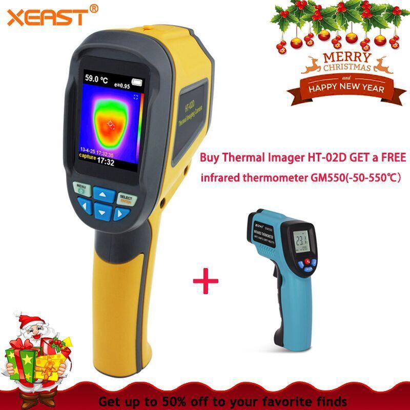 Livraison de foudre XL EN STOCK HT02D Professionnel De Poche Caméra à Imagerie Thermique Portable Infrarouge Dispositif D'imagerie HT-02D