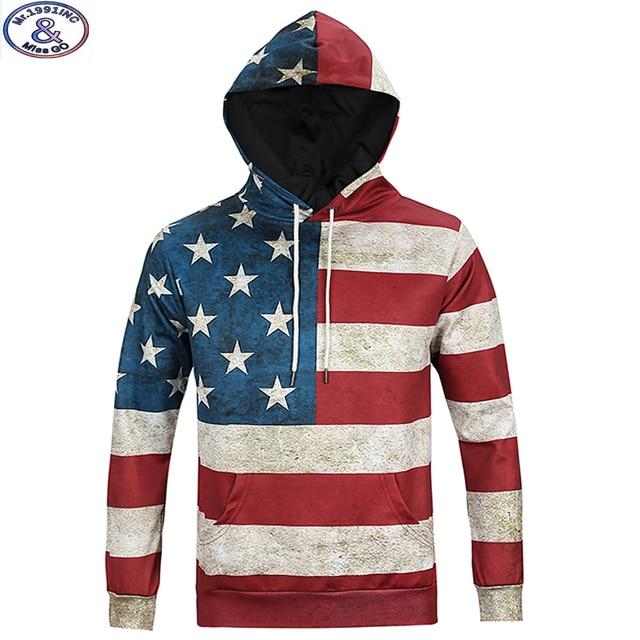 15-20 years teens brand hooded sweatshirt boys fashion design America flag 3D printed hip hop hoodie winter style hoody MH13
