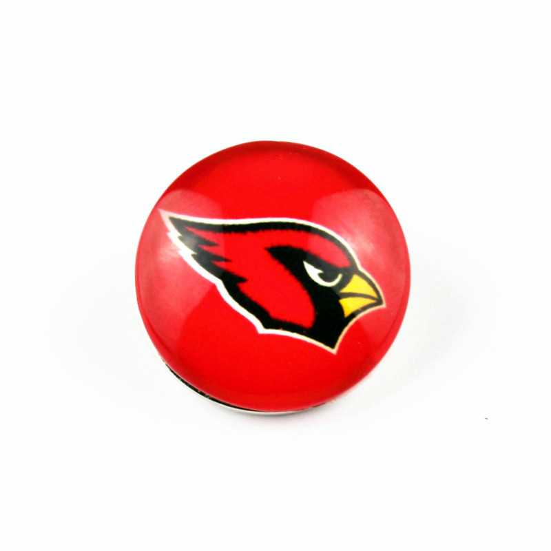 Hot Sale 18mm Snap Button 20pcs Arizona Cardinals Football Sports Team Snap Charms Fit Snap Bracelets Necklace Jewelry