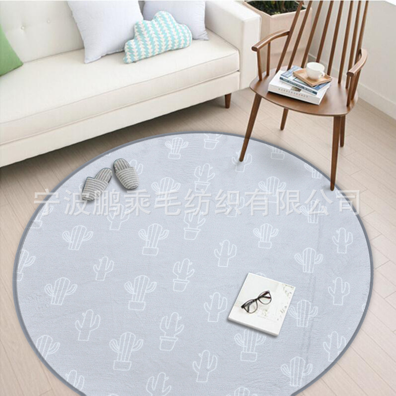 Round Carpet Nordic Gray Series Round Carpets For Living Room Home Area Rugs For Bedroom Kids Cartoon Computer Chair Door Mat