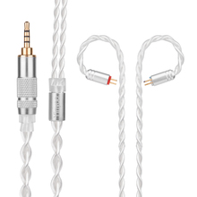 Yinyoo 7N Pure Silver Cable 2.5/3.5/4.4mm Balanced Cable With MMCX/2pin Connector For  LZ A4 A5 Sony KZ ZS10 ZST ZSR ZSA ES4 ZS6
