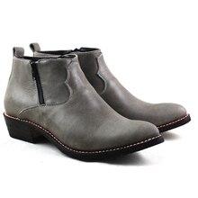 Острым западные ковбойские ботинки Для мужчин из натуральной яловой кожи рабочие ботинки мужские мотоциклетные сапоги для мужчин zapatos de hombre, 38-45