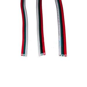 2 متر/5 متر/10 متر 2pin سلك 3pin سلك 4Pin 5pin تمديد الأسلاك ، 22 awg سلك ، RGB + الأبيض سلك كابل ل 3528 5050 LED قطاع