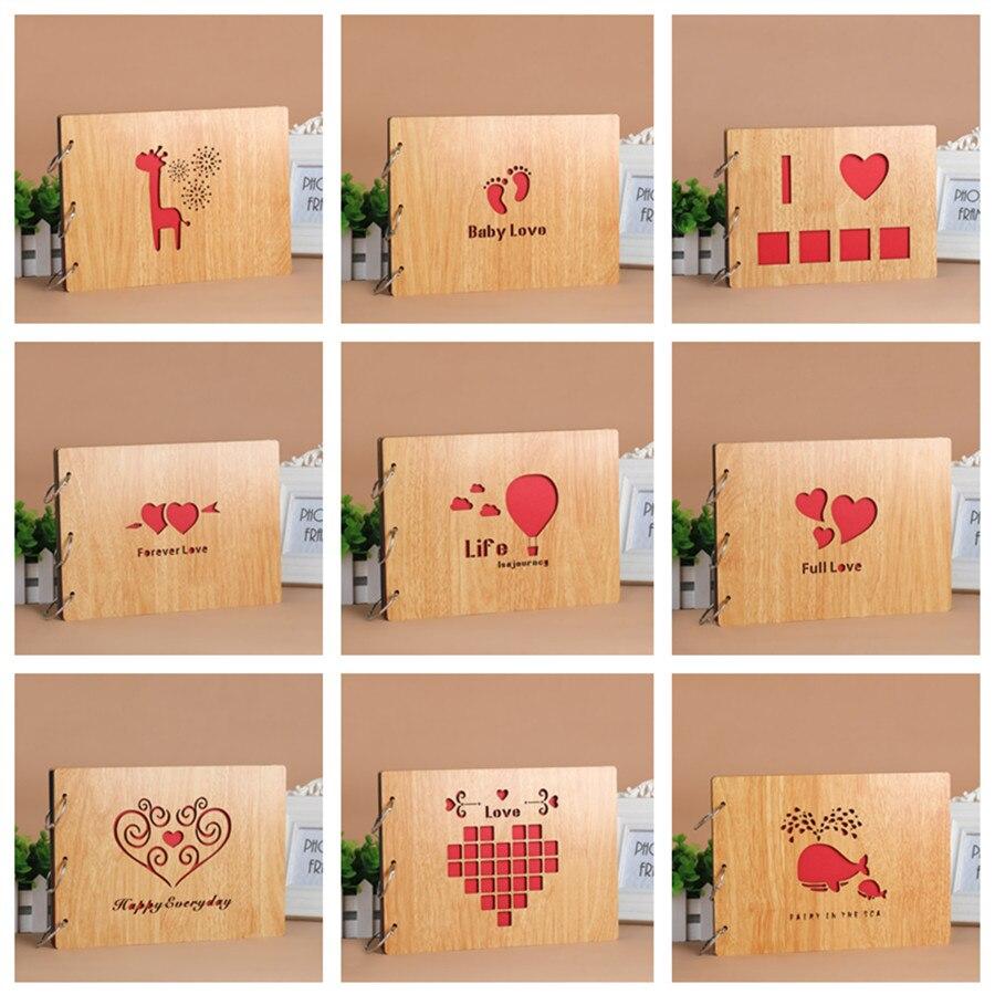 Scrapbook paper cheap - Family Wedding Children Handmade Memorial Diy Photo Album Sheet Scrapbook Paper Wood Sticky Graffiti Black Paperboard