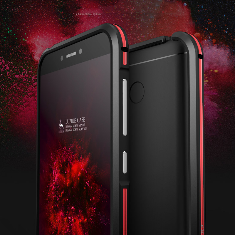 Original LUPHIE Phone Cases For Xiaomi Redmi 4X Luxury Slim Metal Aluminum Hard Armor Bumper Case