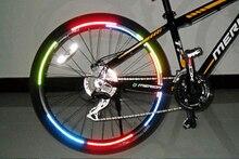 Bicicleta refletor Fluorescente MTB Da Bicicleta Da Bicicleta Da Bicicleta Etiqueta Ciclismo Jante Reflexivos Adesivos Decalque Acessórios BRS2001