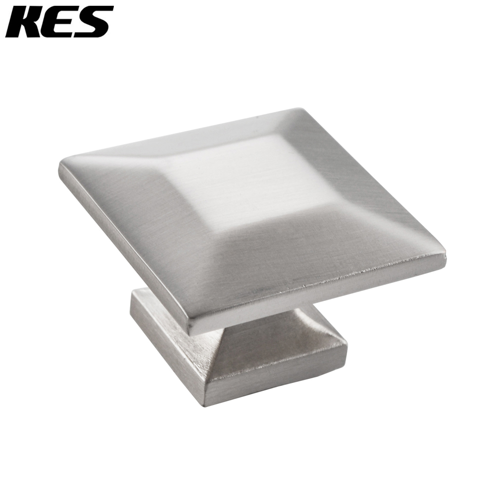 Kes Cabinet Hardware Square Pull Round Brushed Nickel 1 4 Diameter