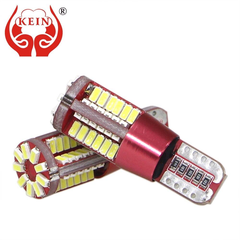KEIN 2pcs 57SMD Super Bright t10 w5w Bulb 194 car led External lights Side Marker Interior Lamp Parking indicator Vehicle Lamp