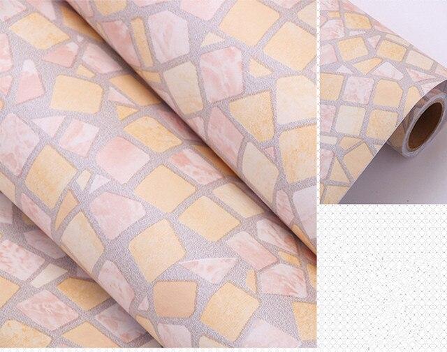 0.45 m * 1 m giallo chiaro autoadesivo carta da parati del pvc