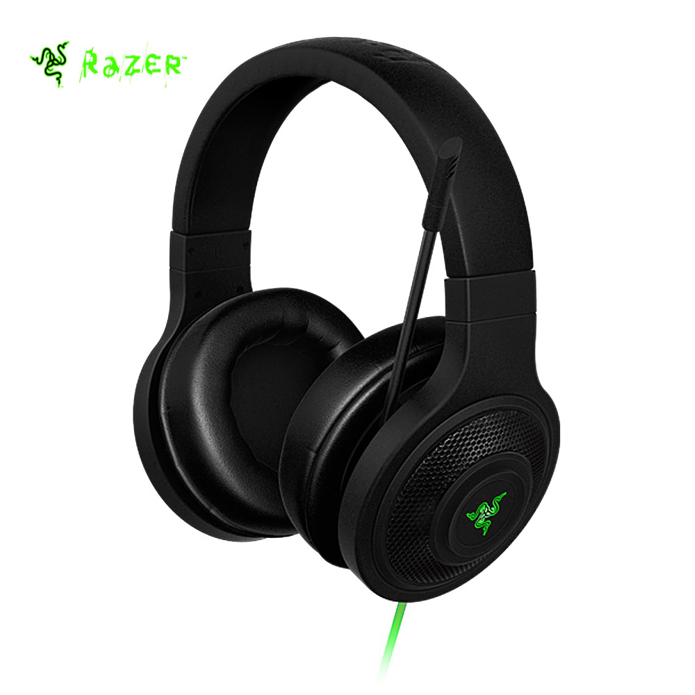 Razer Kraken Essential Headphone Noise Isolating Over-Ear wired Gaming Headset Analog 3.5 mm with Mic for PC/Laptop/Phone Gamer jam tangan pria gold original